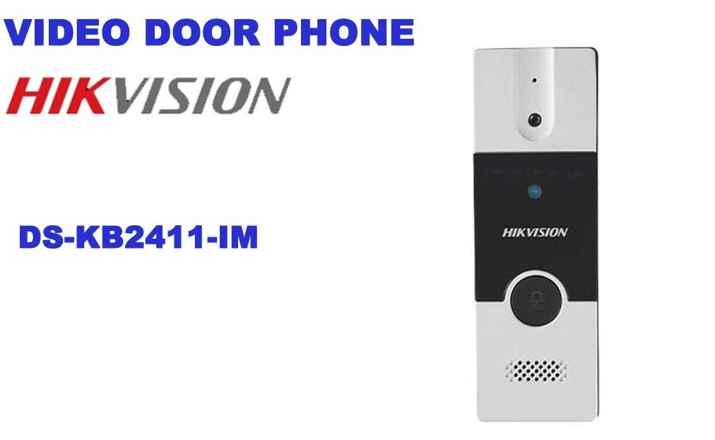 Đại lý phân phối Nút ấn camera chuông cửa Hikvision DS-KB2411-IM chính hãng