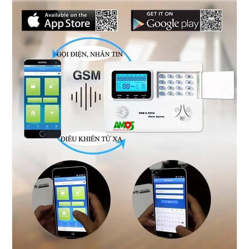đại lý phân phối THIẾT BỊ BÁO ĐỘNG CHỐNG TRỘM AMOS AM-GSM74