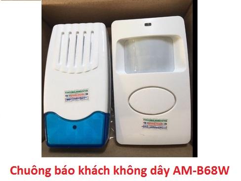 địa chỉ bán CHUÔNG BÁO KHÁCH KHÔNG DÂY AM-B68W giá rẻ