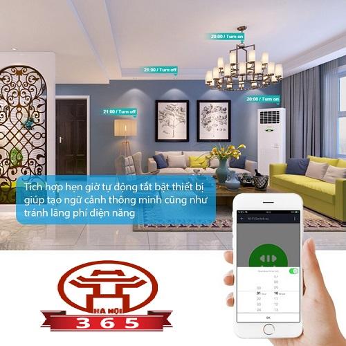 Hộp công tắc WiFi thông minh HMT10/16 với tính năng Hẹn giờ