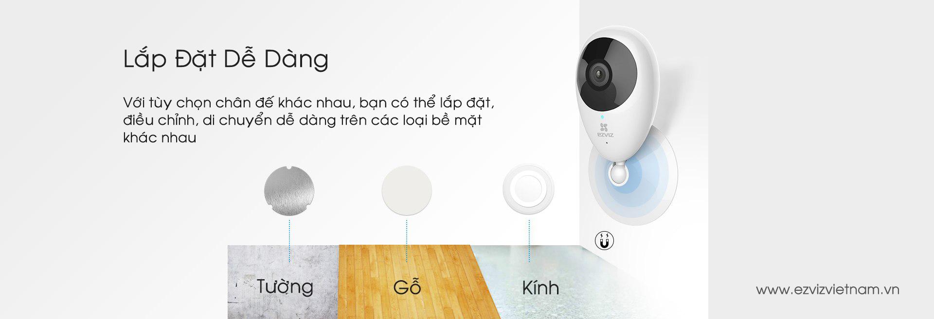 Lắp đặt Camera Wifi EZVIZ C2C 720P (CS-CV206-C0-1A1WFR) tại Hà Nội