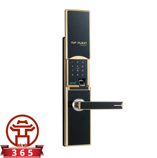 Khóa cửa vân tay, thẻ từ, mã số, khóa cơ Puxin ZW-8016