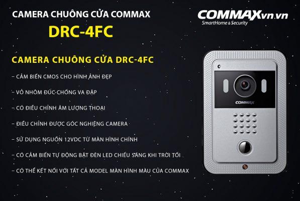 địa chỉ bán CAMERA CHUÔNG CỬA COMMAX DRC-4FC giá rẻ