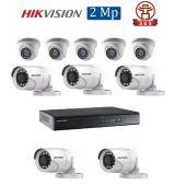 Mua Bộ 10 Camera 2.0Mp Hikvision (Trong Nhà Hoặc Ngoài Trời) uy tín giá rẻ