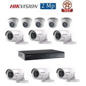 Mua Bộ 11 Camera 2.0Mp Hikvision (Trong Nhà Hoặc Ngoài Trời) uy tín giá rẻ