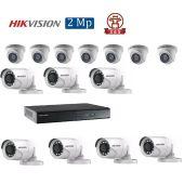 Mua Bộ 14 Camera 2.0Mp Hikvision (Trong Nhà Hoặc Ngoài Trời) uy tín giá rẻ