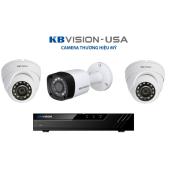 Bộ 3 Camera 4.0Mp KBVISION (Trong Nhà Hoặc Ngoài Trời) chính hãng giá rẻ