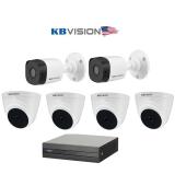 Bộ 6 Camera 2.0Mp KBVISION (Trong Nhà Hoặc Ngoài Trời) chính hãng giá rẻ
