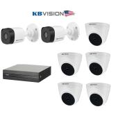 Bộ 7 Camera 2.0Mp KBVISION (Trong Nhà Hoặc Ngoài Trời) chính hãng giá rẻ