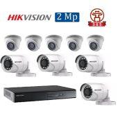 Mua Bộ 9 Camera 2.0Mp Hikvision (Trong Nhà Hoặc Ngoài Trời) giá rẻ