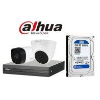 Lắp đặt Bộ 2 Camera 2.0Mp Dahua (Trong Nhà Hoặc Ngoài Trời) chính hãng giá rẻ