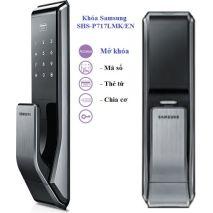 lắp đặt Khoá cửa điện tử SAMSUNG SHS-P717LMK/EN