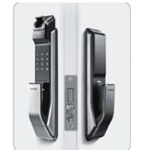 lắp đặt Khoá cửa điện tử SAMSUNG SHS-P718LBK/EN