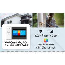 Lắp đặt BỘ BÁO ĐỘNG CHỐNG TRỘM GW05 QUA WIFI + SIM GSM GW05 CAO CẤP giá rẻ