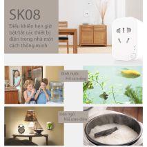 Phân phối Ổ CẮM WIFI THÔNG MINH SMARTZ SK08