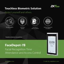 Lắp đặt Máy chấm công khuôn mặt ZKTECO FaceDepot - 7B chuyên nghiệp