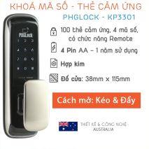 đại lý phân phối Khóa cửa điện tử PHGLock KP3301 tại hà nội