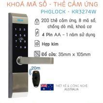 đại lý phân phối Khóa cửa điện tử PHGLock KR3274 tại Đống Đa