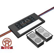 Công tắc gương cảm ứng chạm bật đèn HMCY-D12TOK60 (hỗ trợ màn hiển thị nhiệt độ, độ ẩm, loa bluetooth)