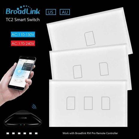 Lắp đặt CÔNG TẮC CẢM ỨNG, ĐIỀU KHIỂN TỪ XA BROADLINK TC2-US PRO giá rẻ